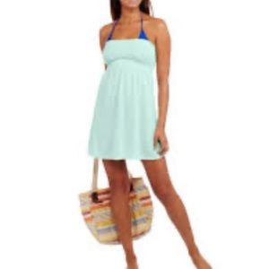 OP smocked too swim cover dress